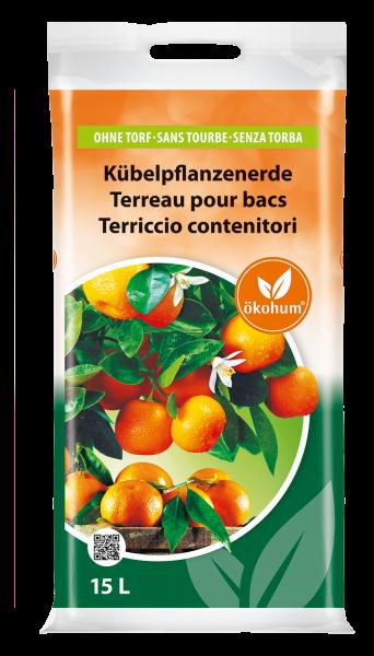 Kübelpflanzenerde ohne Torf 15 L