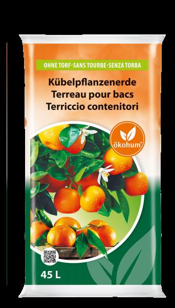 Kübelpflanzenerde ohne Torf 45 L